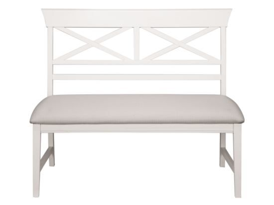 Plantation Cove White X Back Bench   Value City Furniture $130 BOUGHT
