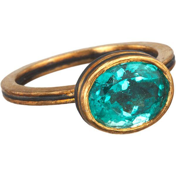 Judy Geib Emerald Lovely Ring ($3,980) ❤ liked on Polyvore i loveeeeeee this