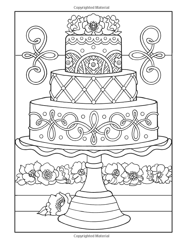 cake food coloring pages - photo#15
