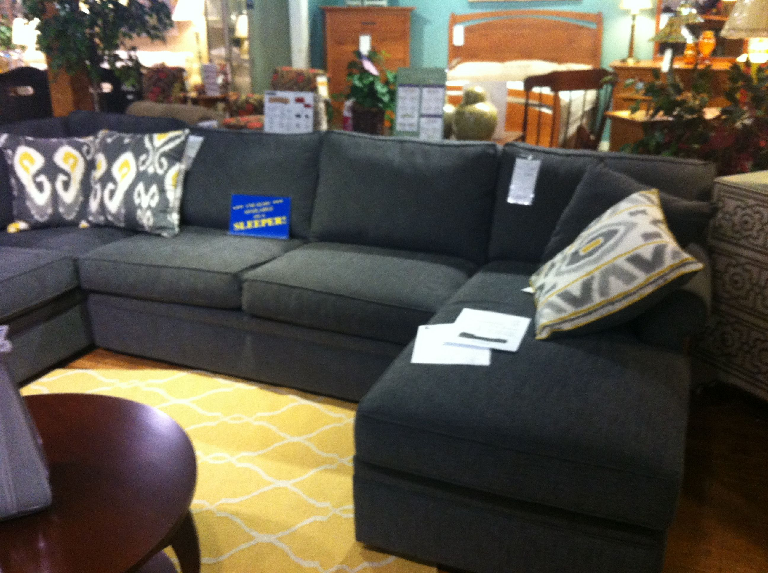 Rowe Sofa with Sleeper option La Chance Furniture Gardner MA