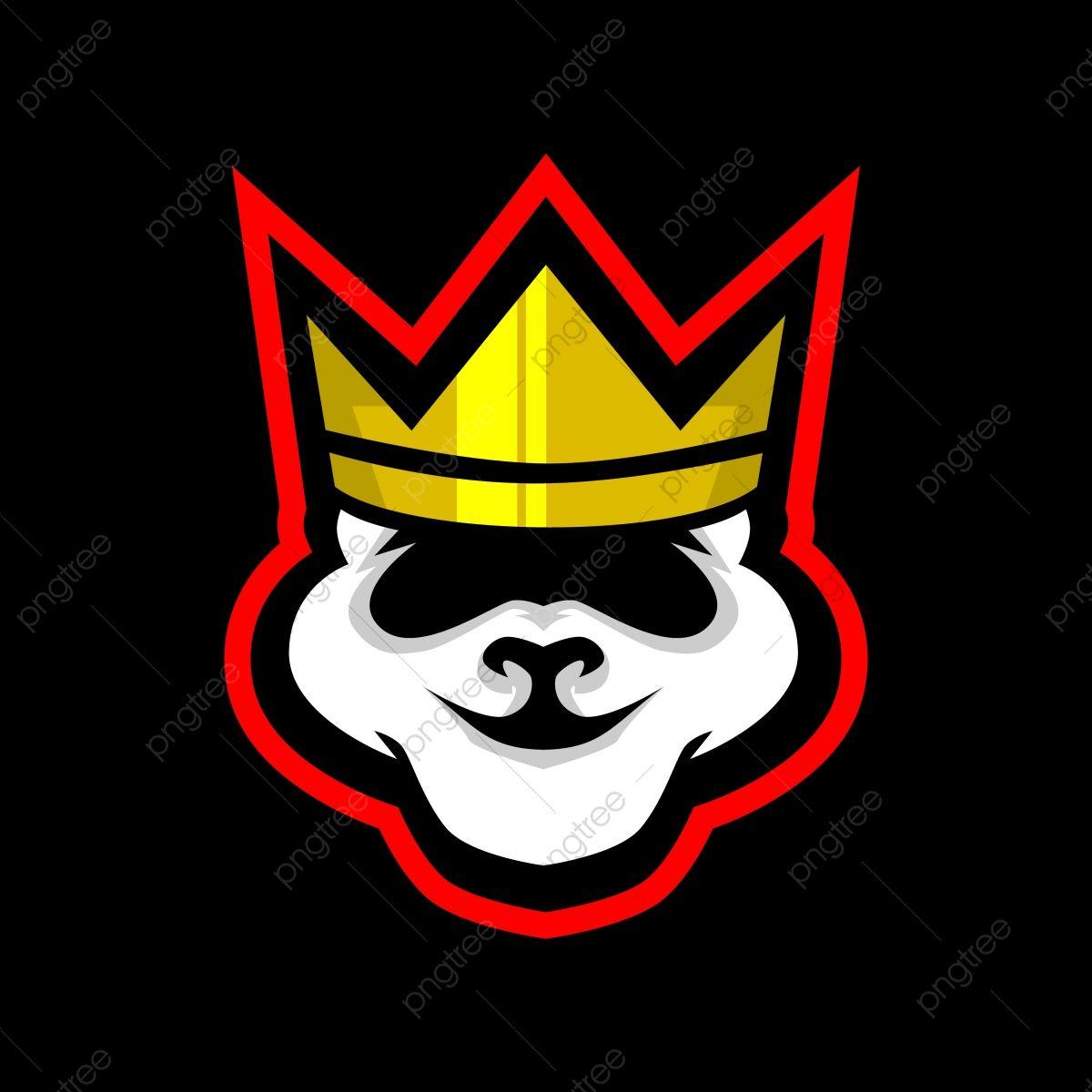 King Panda E Sports Logo Gaming Mascot, Logo Icons, Panda