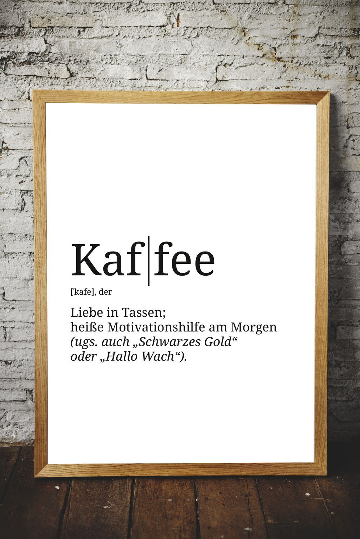 Spruch Poster Definition Kaffee Wand Deko Din A3 Poster Kuche Poster Zitate Poster