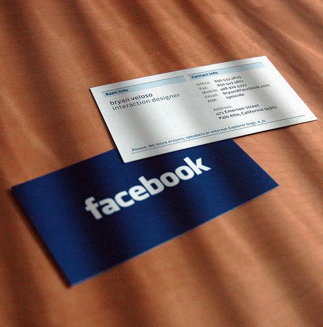 Facebook business card business cards pinterest facebook facebook business card colourmoves