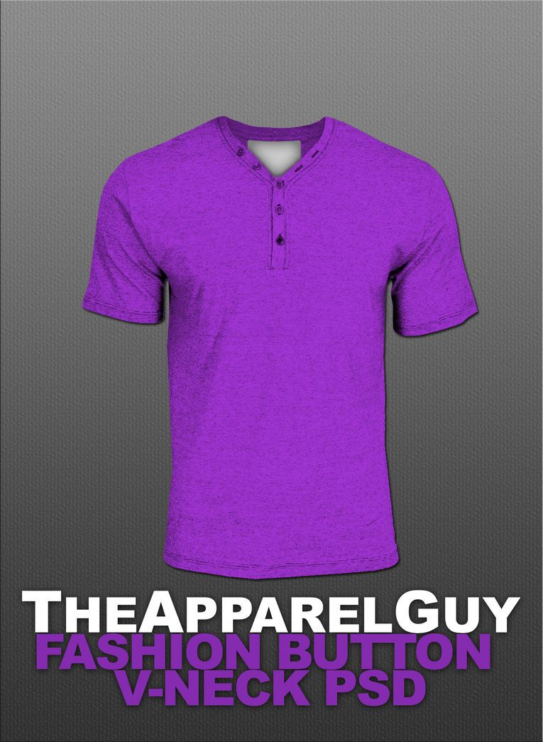 Fashion Button V-Neck PSD by TheApparelGuy | Projects to Try ...
