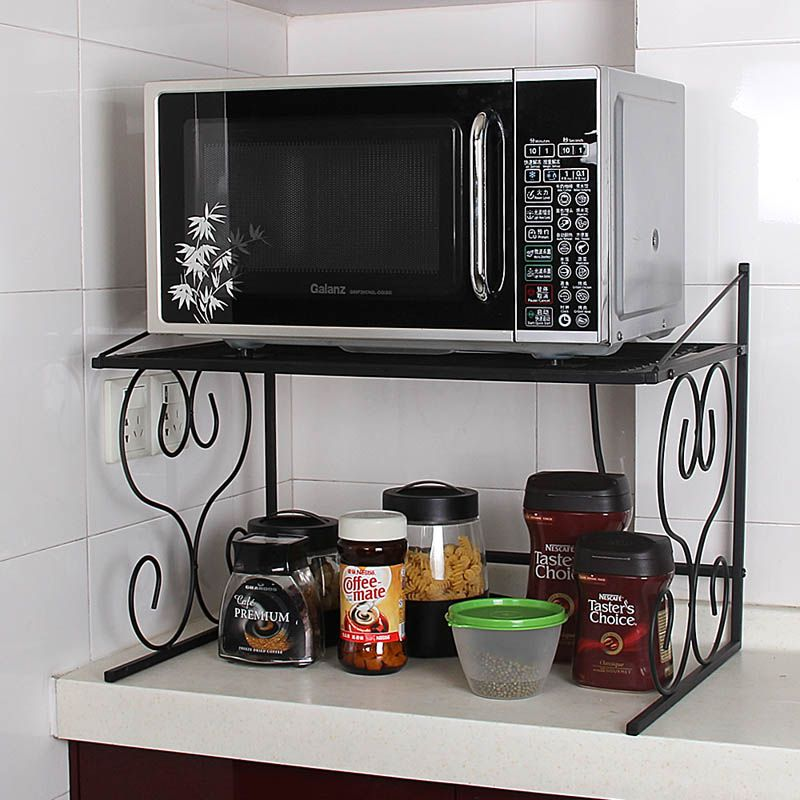 Double Layer Microwave Oven Rack Locker Multi Layer Rice Cooker Oven Storage Holders Microwave Shelf Microwave Stand Kitchen Design Small