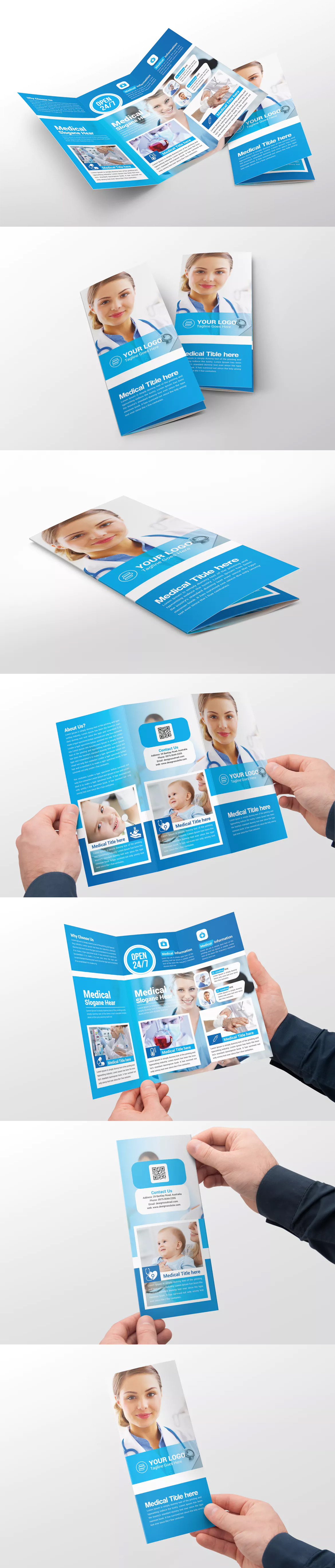 medical trifold brochure template psd brochure templates