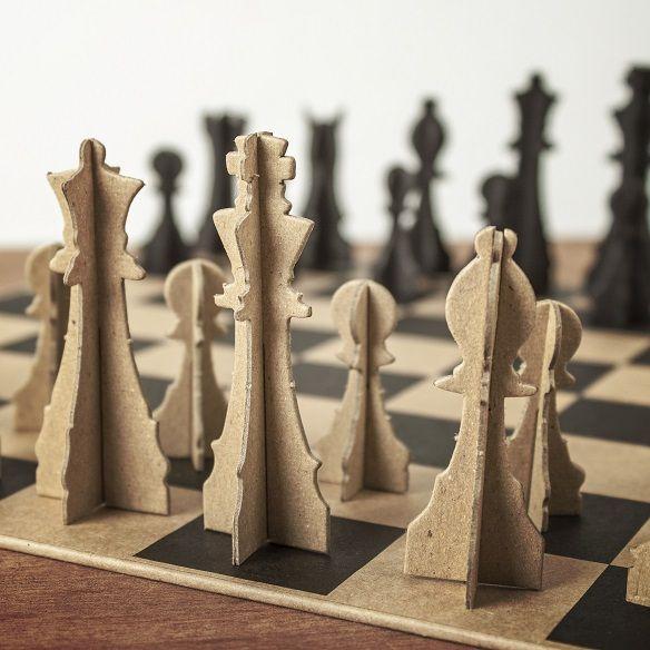 Diy Chess Board Cardboard