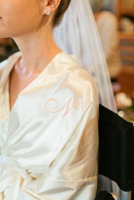 Satin bridesmaid robe Coral Peach robes bridesmaid dressing gown  personalized robes silk bridesmaids 4bdc8ea6c