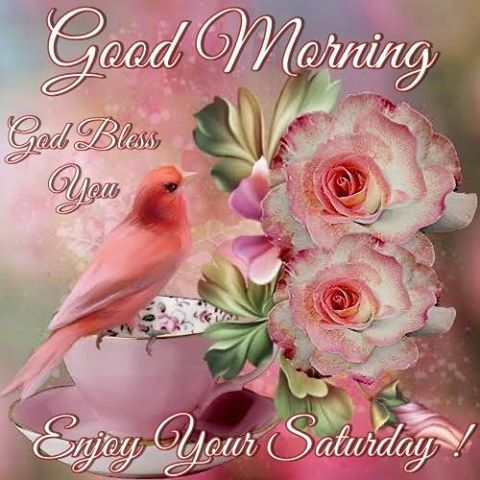 Good Morning God Bless You Enjoy Your Saturday Daily Greetings
