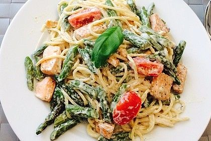 Photo of Spaghetti with Salmon and Green Asparagus by tommy07 | chef