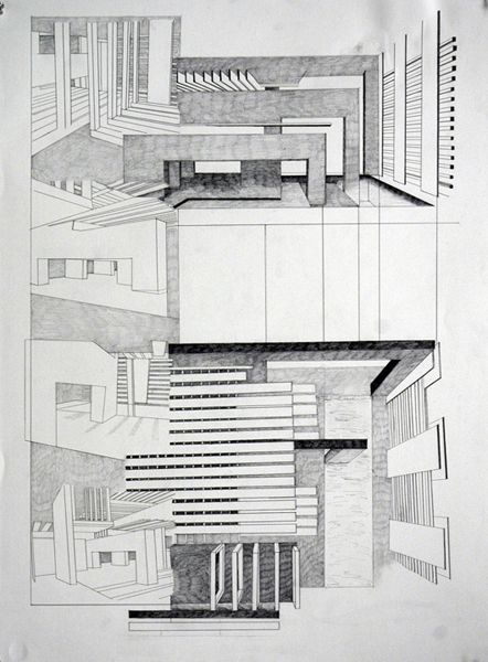 Analytique Drawing By Melissa Halberstadt Arch Architecture Architecture Interior Architecture Design