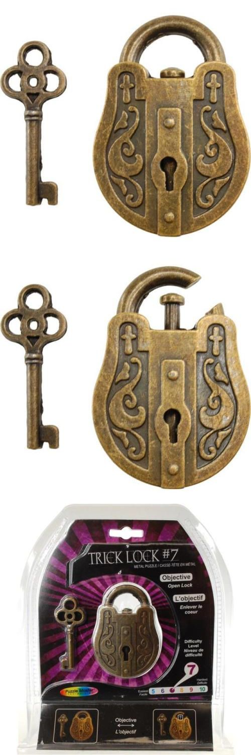 Other Contemporary Puzzles 2615: Trick Lock 7 - Brainteaser Metal