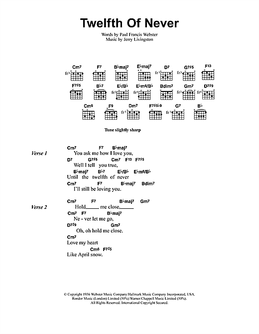 Jeff Buckley The Twelfth Of Never Sheet Music Notes Chords Score Download Printable Pdf Sheet Music Notes Music Notes Jeff Buckley Lyrics