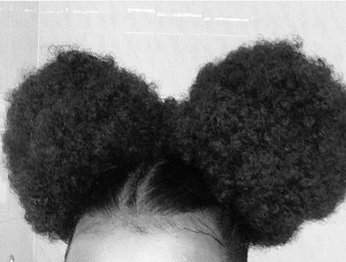 Part Your Puffs With A Braid Down The Middle To Add Some Edge Natural Hair Styles Ball Hairstyles Natural Hair Inspiration