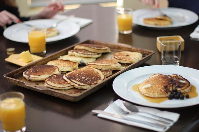 Salvation Sisters: Breakfast in Purgatory: Lemon Ricotta Pancakes wit...