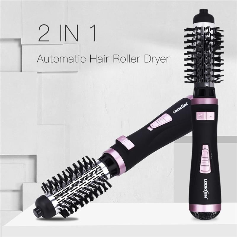 One Step 2 In 1 Ceramic Rotating Curling Iron Brush In 2020 Rotating Hair Brush Hair Dryer Brush Cheap Hair Dryer
