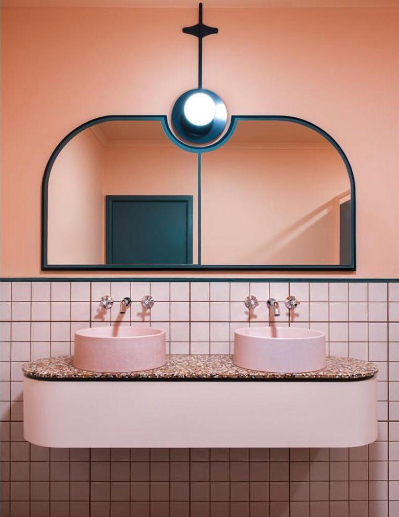 millennial pink bathroom tile I Décor Aid | Deko interieur ...