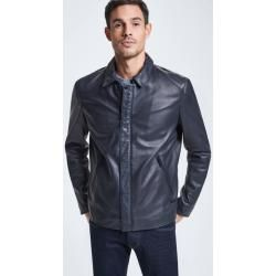 Photo of Leather jacket Monza – S.C. Collection, dark blue Strellson