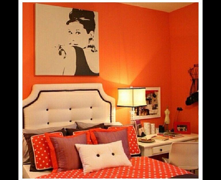 Pin By Anna Nakahara On Houses Rooms Outdoor Stuff Dream Decor Bedroom Decor Bedroom Orange