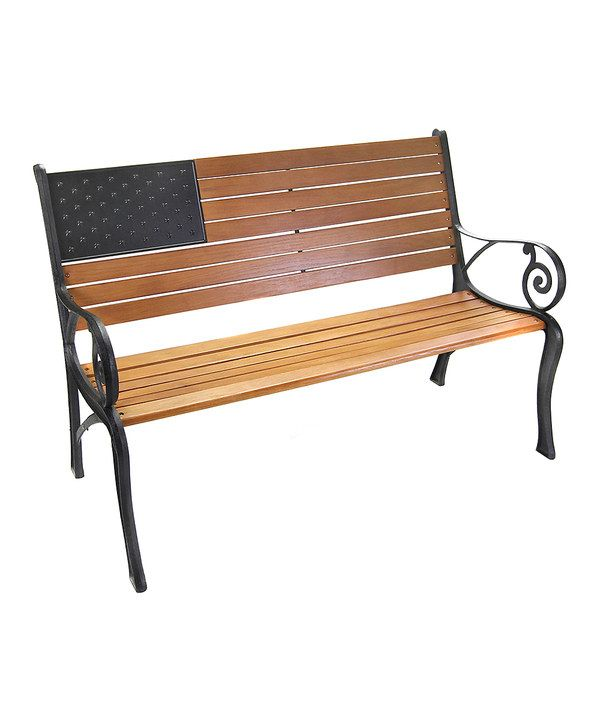 Look at this American Flag Bench on #zulily today!