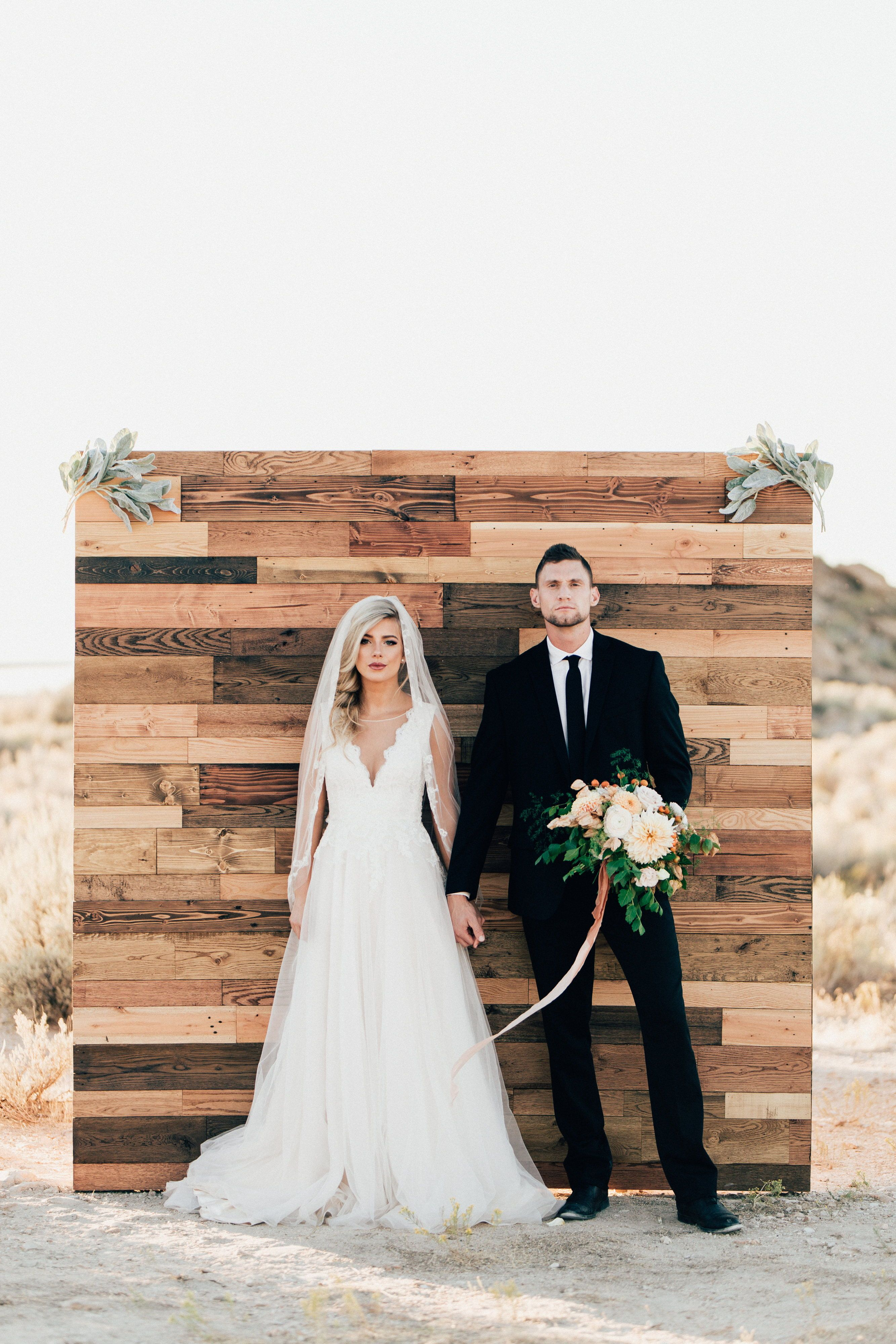 Modern And Charming Wooden Backdrop Looking For Your Dream Wedding Dress In Utah Set Up An Appointme Wedding Dresses Dream Wedding Dresses Beautiful Bride