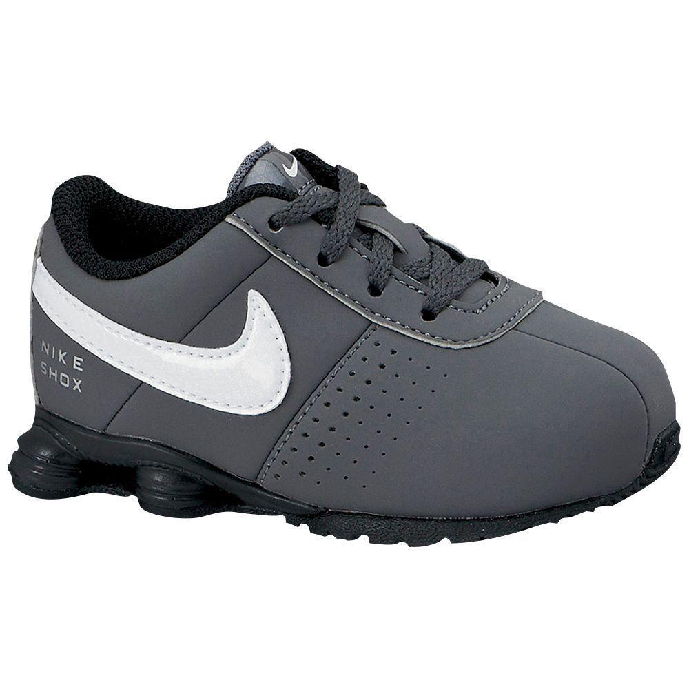 Nike Shox Deliver Boys' Toddler Running Shoes DK GY WT BK Metallic Silver |  eBay