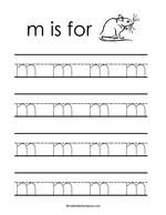 Letter m tracing worksheet teaching reading elementary letter m tracing worksheet spiritdancerdesigns Image collections
