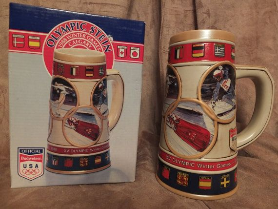 1988 Budweiser Winter Olympics Games Stein by MoonbearConnections