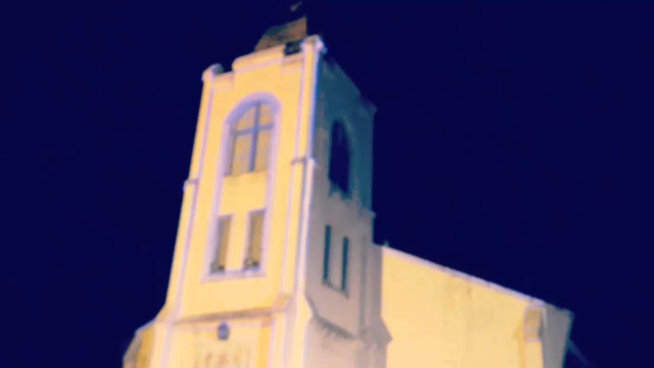 梨山耶穌堂建築投影「光臨梨山」側拍