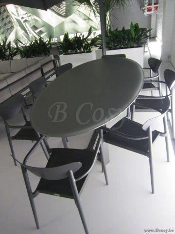 Gescova Azur Montella Table de repas jardin Ovale-elliptique Alumin ...