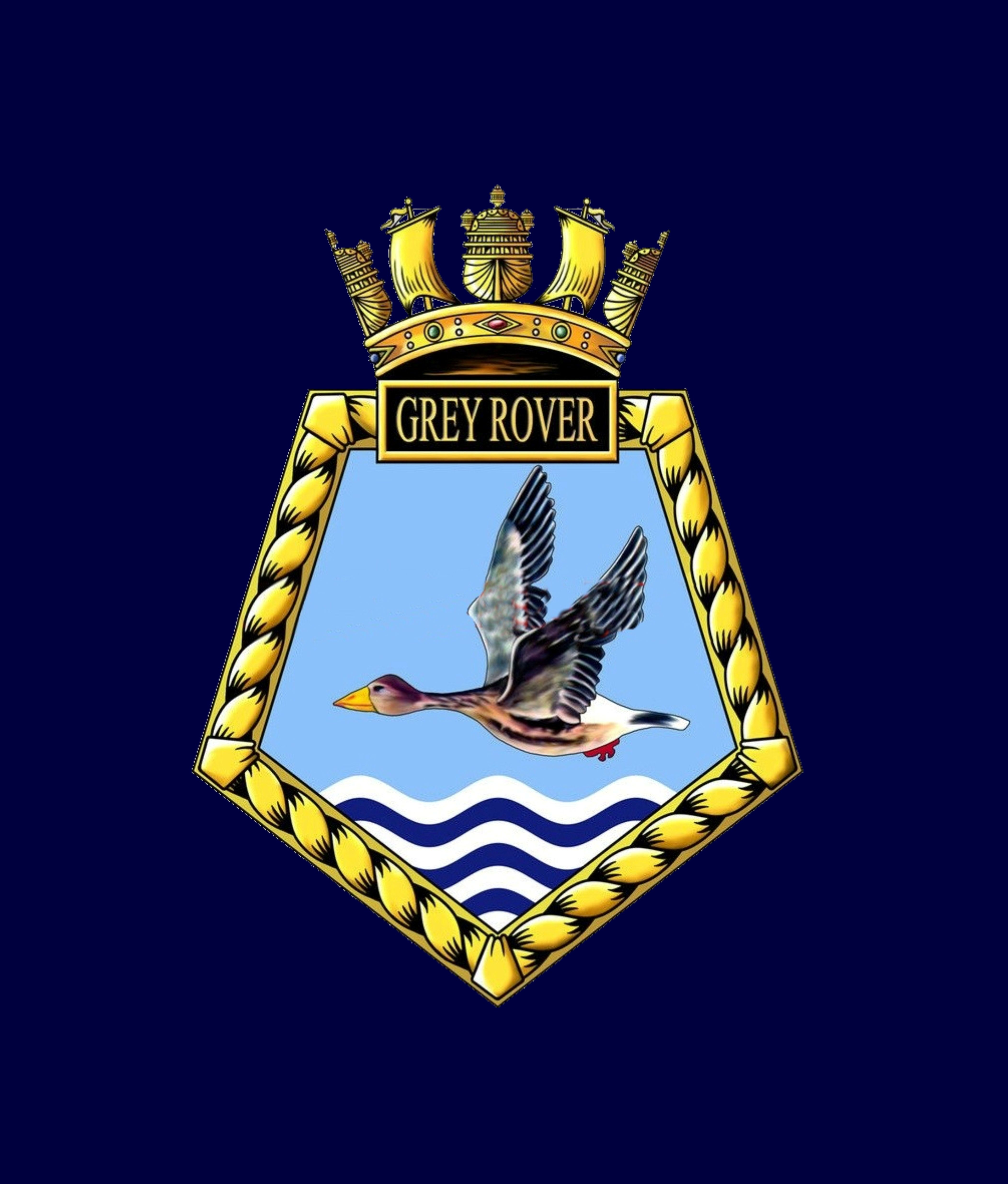 RFA Grey Rover Badge, Insignia, Veteran