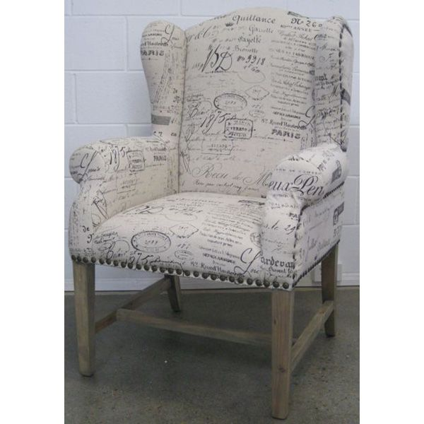 Sophie Chair French Script Fabric Crafty Ness