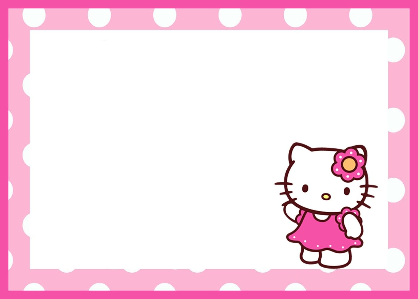 Hello Kitty Birthday Invitation Template Hello Kitty Hello Kitty