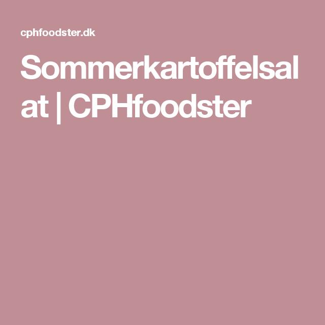 Sommerkartoffelsalat | CPHfoodster