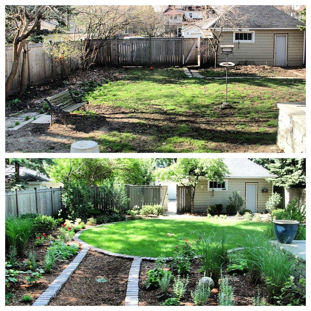 Backyard Transformation Before After: Major Lawn Makeover #vistalandscape #landscape #makeover
