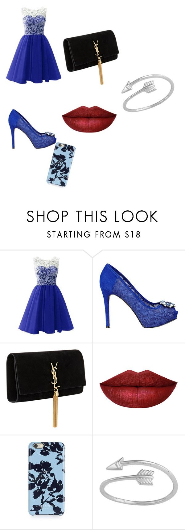 """""""prom"""" by janaerobinson ❤ liked on Polyvore featuring beauty, GUESS, Yves Saint Laurent and Isaac Mizrahi"""