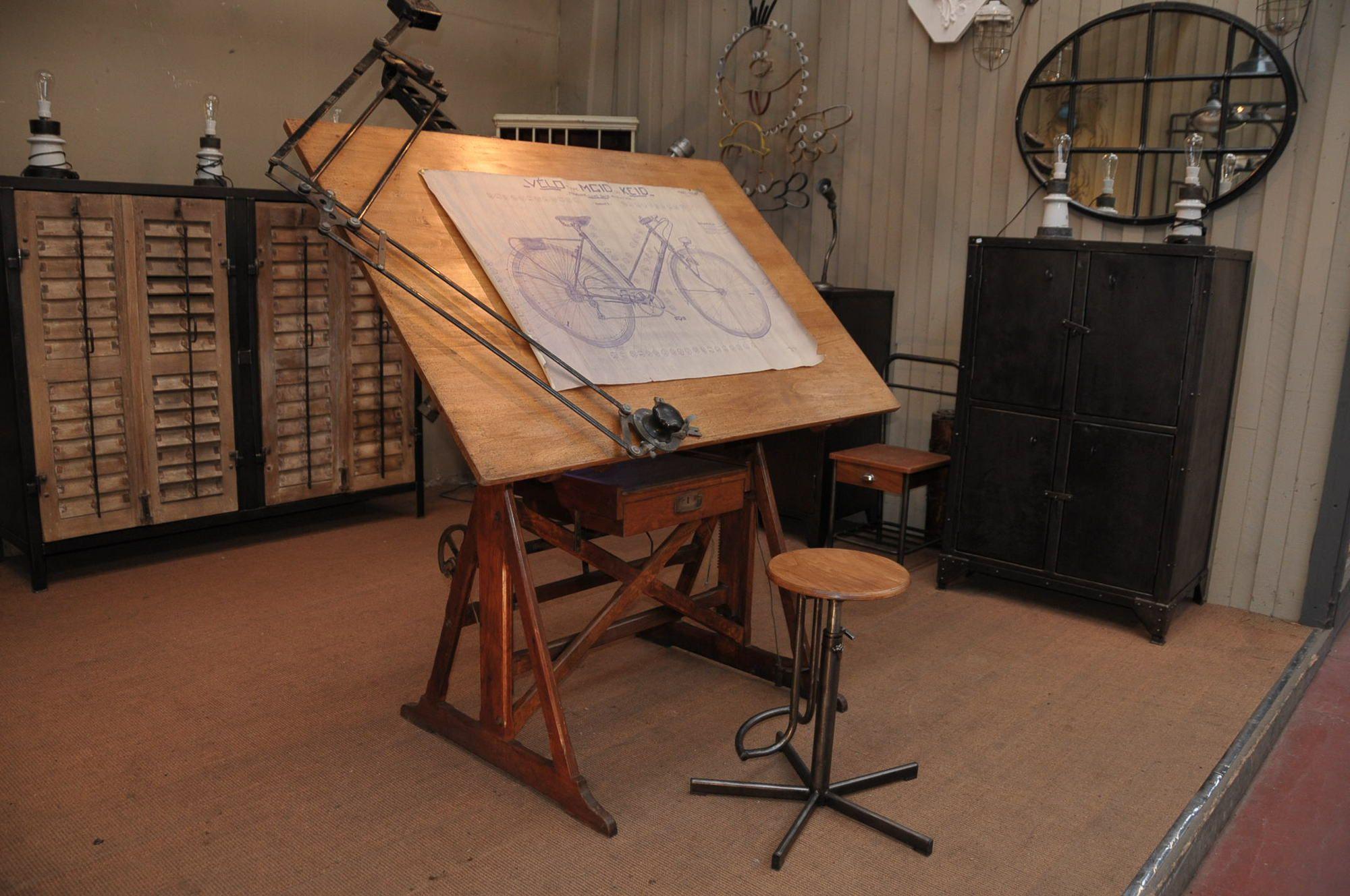 Ancienne Table D Architecte 1930 Le Grenier Table Architecte Table A Dessin Table