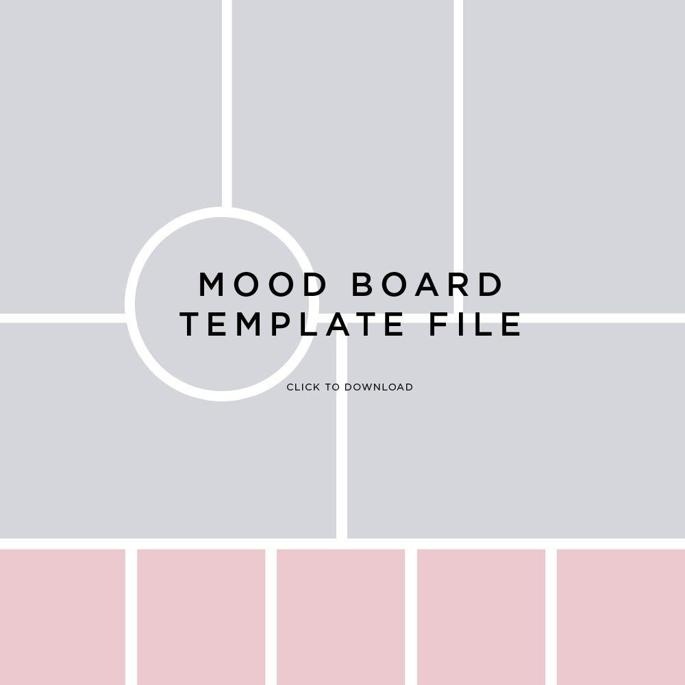 mood board template file by fancygirl design studio mind store pinterest luoghi da. Black Bedroom Furniture Sets. Home Design Ideas