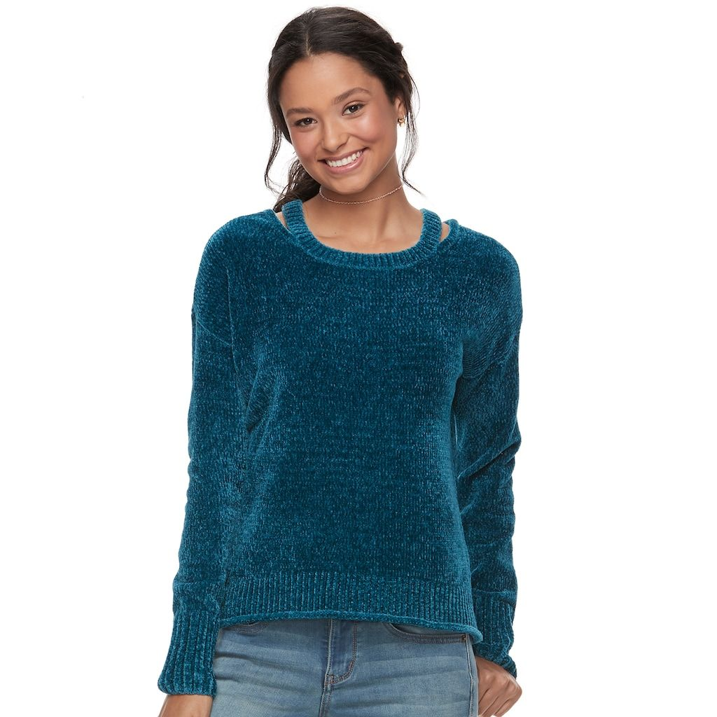 Juniors' Mudd® Chenille Solid Pullover | My Closet: All the Rest ...