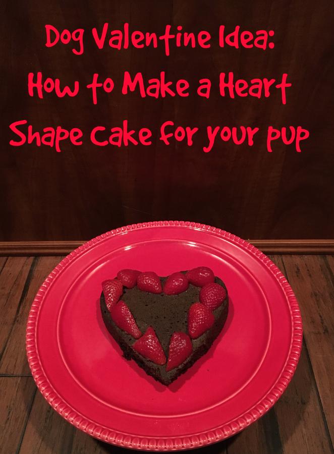 A Dog Valentine Idea Heart Shape Cake Dog Lovers Pinterest Dog