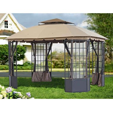 Sunjoy Chambord Gazebo 13 X 10 8 Sam S Club Steel Gazebo Gazebo Outdoor