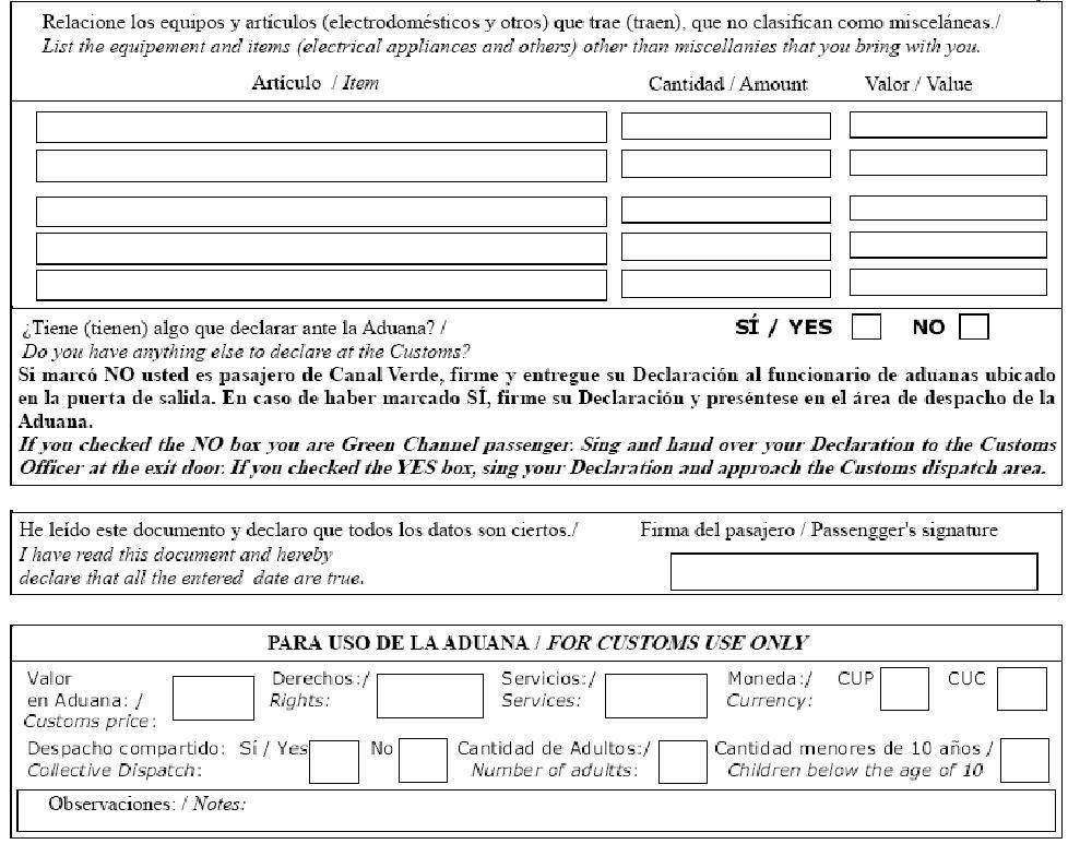 Customs Declaration Form Sheet music