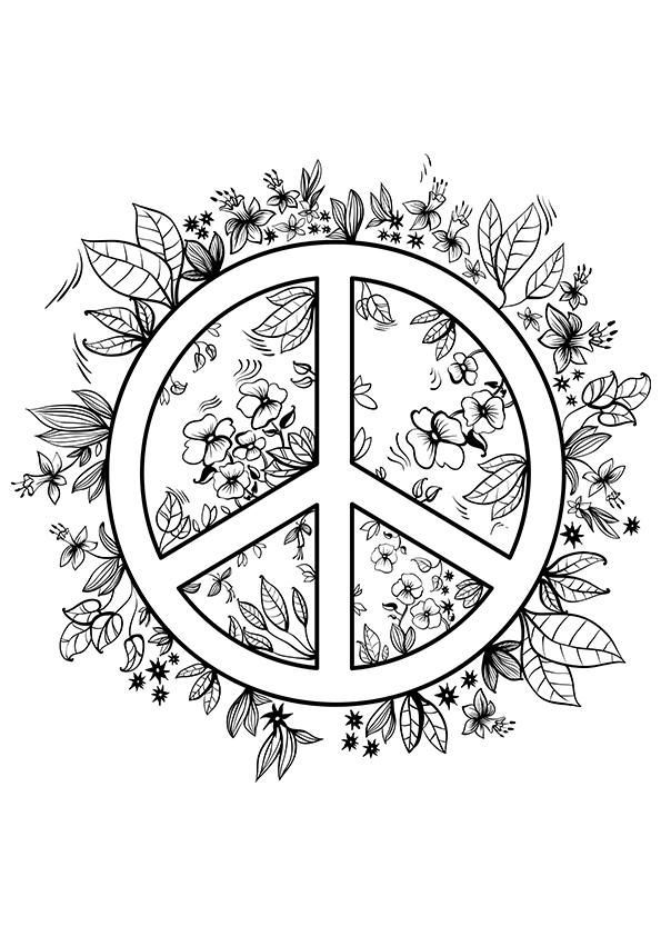 Simple And Attractive Free Printable Peace Sign Coloring Pages No War Peace Symbol Printable Templates Coloring Pages For Teenagers Peace Sign Art Coloring Pages