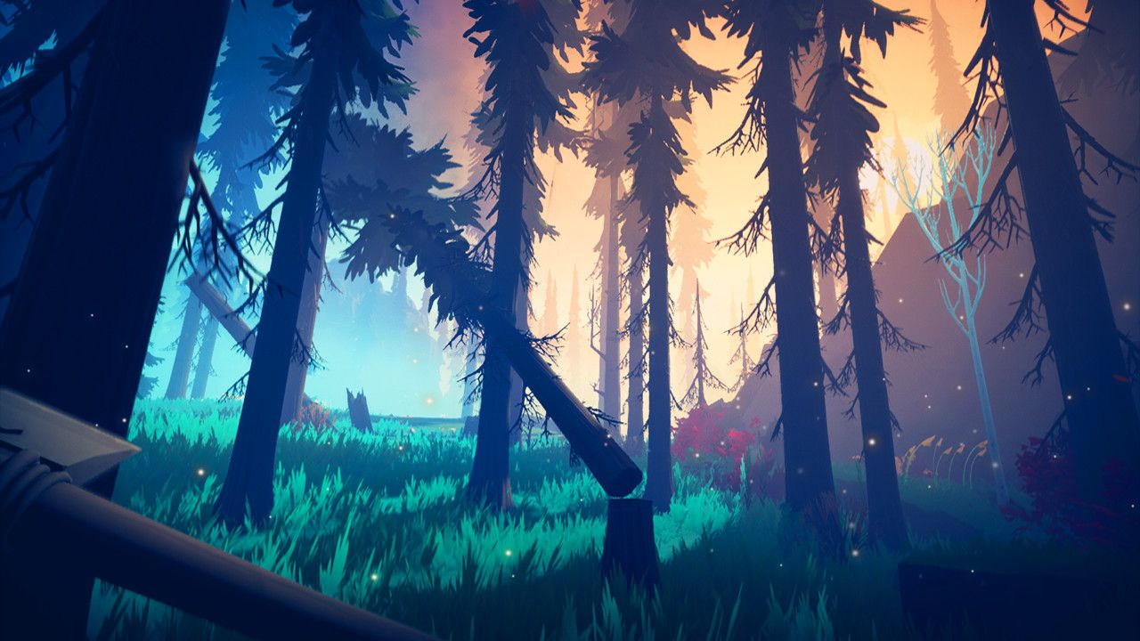 Among Trees on Steam Scenery wallpaper, Anime scenery