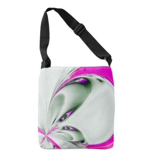 Touch of Pink Floral Fractal Crossbody Bag