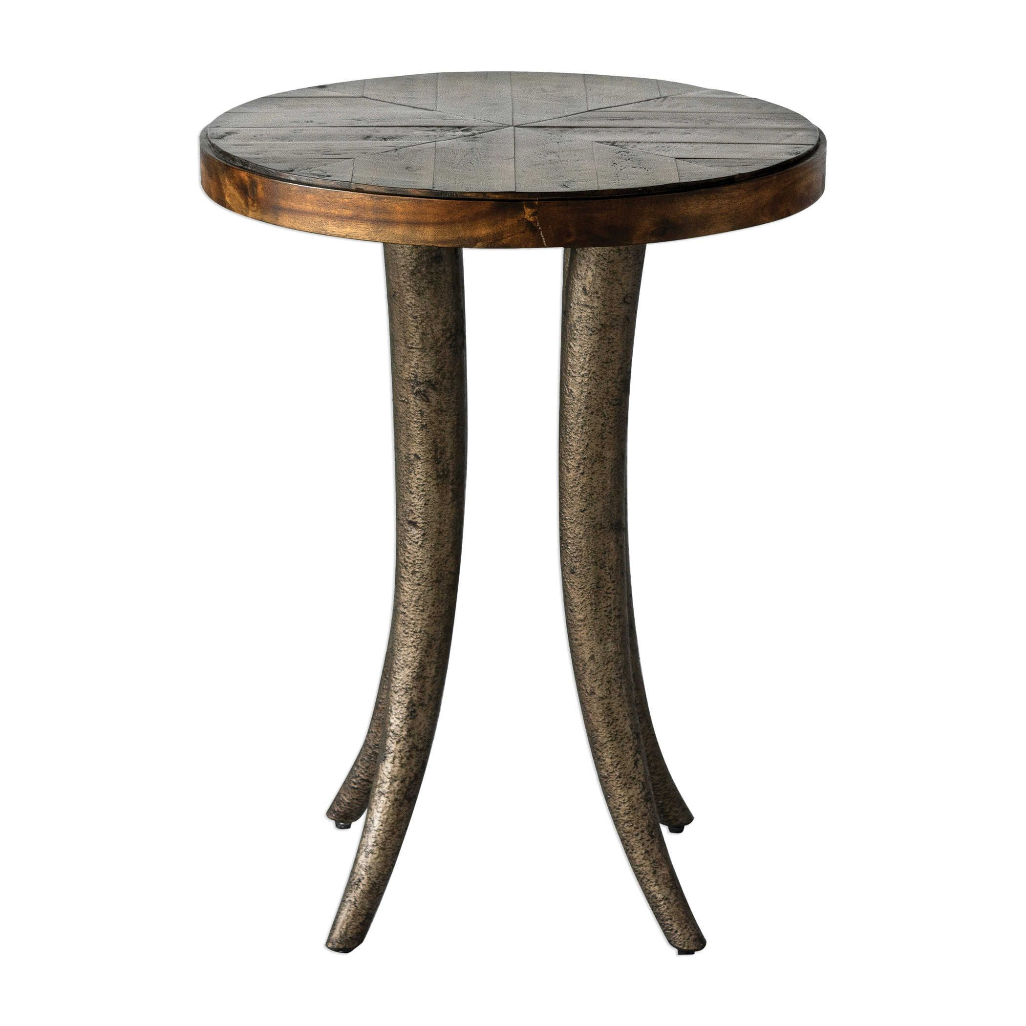 Uttermost Ezra Round Accent Table Round Accent Table Wood