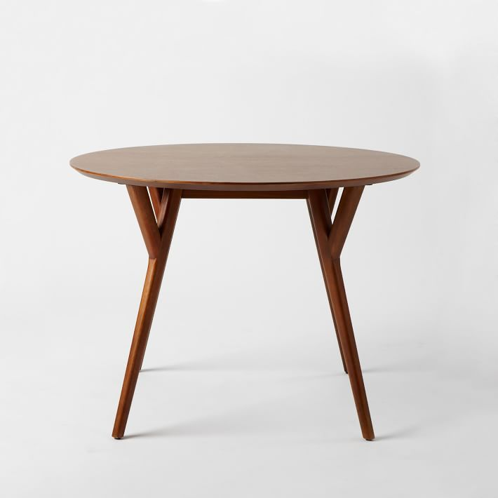 WestElm // Mid Century Round Dining Table // $599 | Brooklyn Digs .