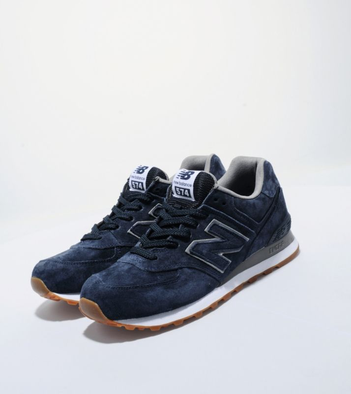 Heren New Balance (NB) 574 Mono Suede Marine Sneakers Running,Fashionable  and quality sports shoes here just for you.