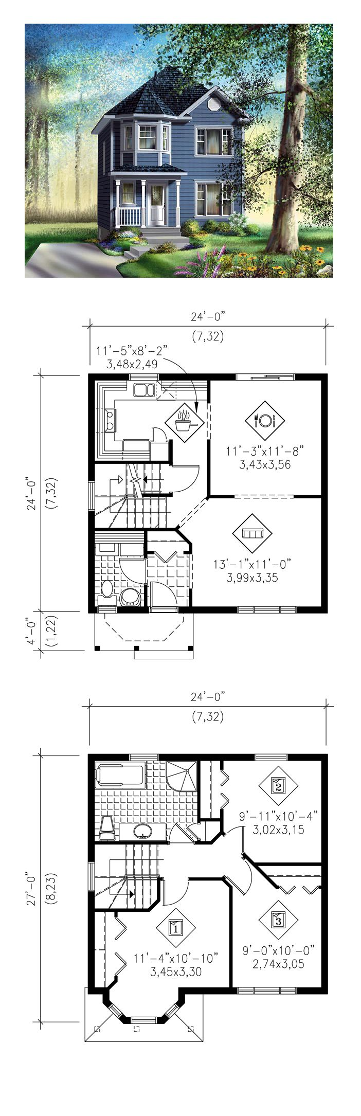 Victorian Style House Plan 49793 With 3 Bed 2 Bath Victorian