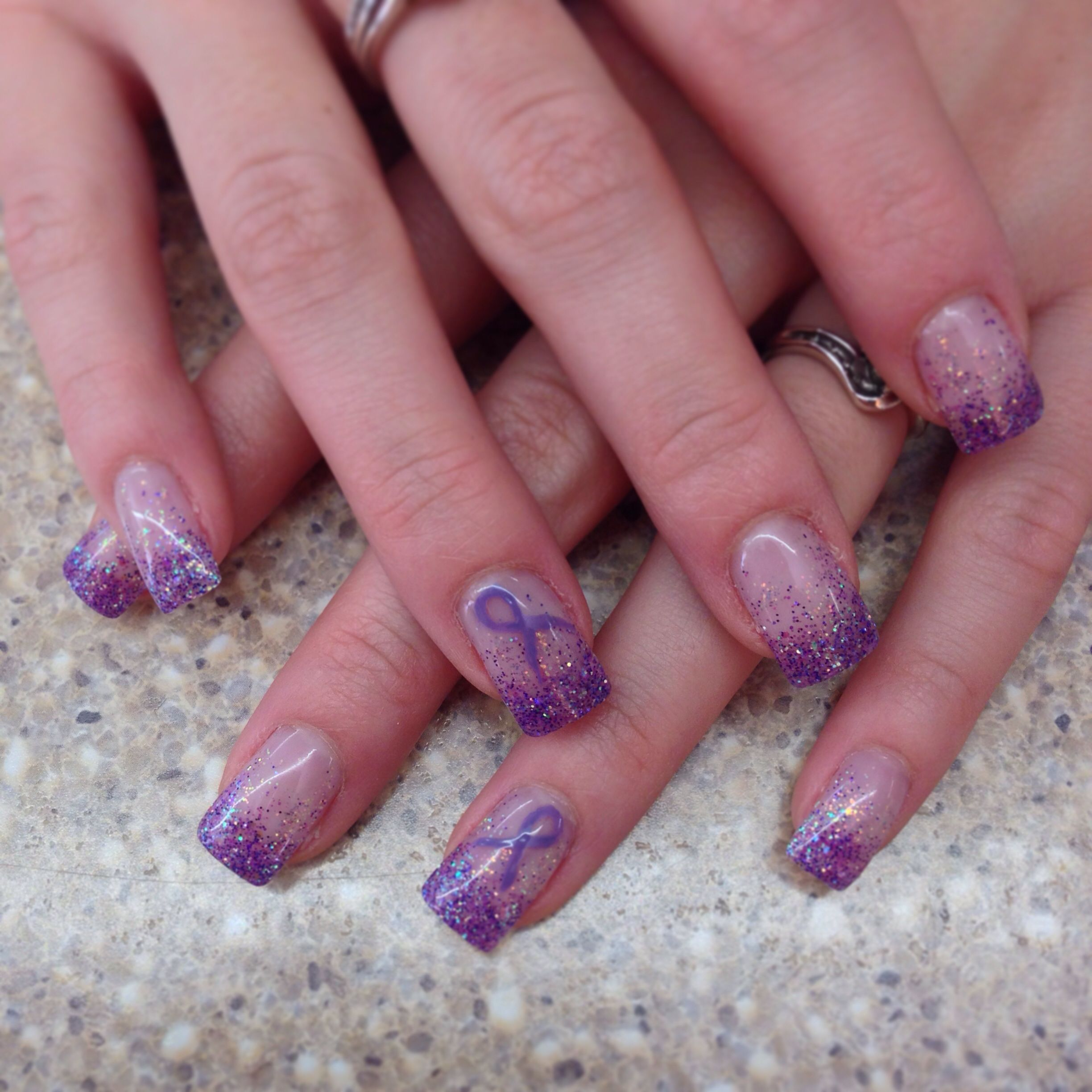 Pin By Sandy Spalding On Cure Epilepsy Purple Nail Designs Purple Nail Art Hunting Nails